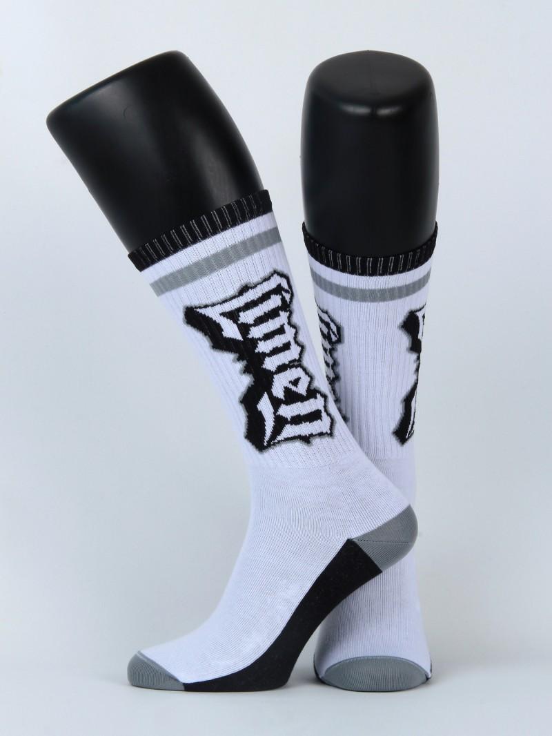 Skate Socks white/grey